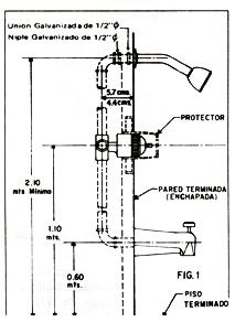 Mezclador monocontrol for Partes de una griferia de ducha
